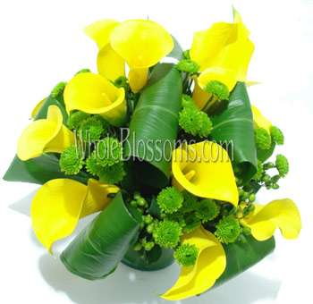 Yellow Mini Calla Wedding Centerpiece