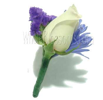 White Rose Boutonniere Flower
