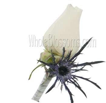 White Rose Wedding Boutonniere