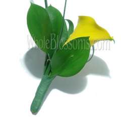 Yellow Mini Calla Boutonniere Flower