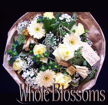 Christmas Greeting Flower Centerpiece