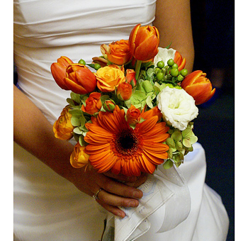 Orange Wedding Flower Fantasy