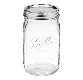 "6.5"" Glass Mason Jar - 24 Unit Carton"
