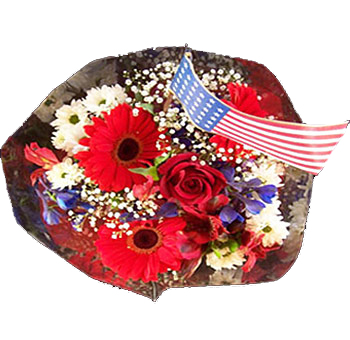 Independence Day Flower Centerpiece