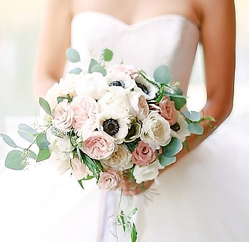 Anemone and Rose DIY Wedding Flowers Package