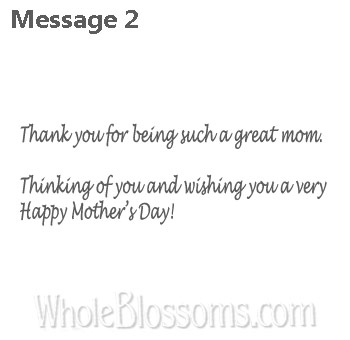 2 Thank You Mom Message