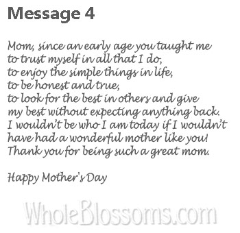4 Wonderful Mother Message