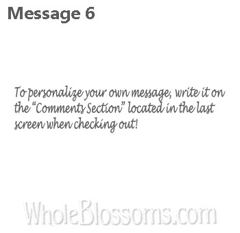 6 Your Own Message