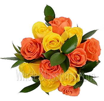 Uplifting Sunset Roses Centerpieces