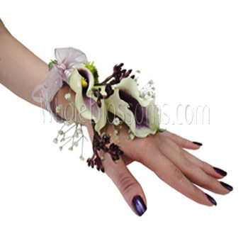 Bicolor Purple Wrist Corsage Flower