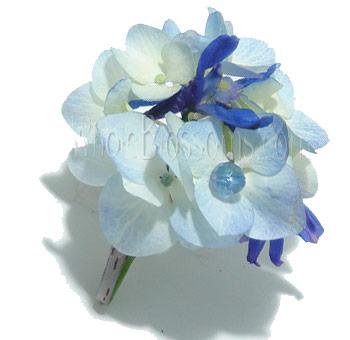 Blue Hydrangea Boutonniere Blue Hydrangea Boutonniere