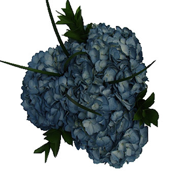 Painted Blue Hydrangea Centerpiece