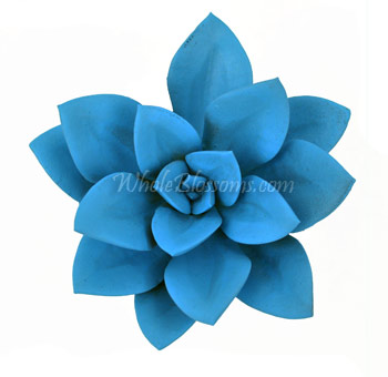 Blue Succulent Painted Flower