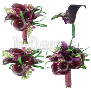chocolate-mini-calla-wedding-flowers