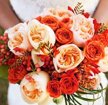 Classic And Simple Fall DIY Wedding Flowers Package