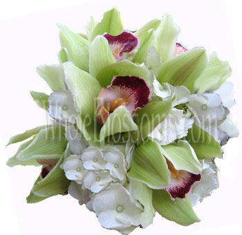 Orchid Hydrangea Nosegay Wedding Flowers Package