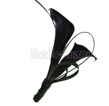 Dark Purple Mini Calla Boutonniere Flower
