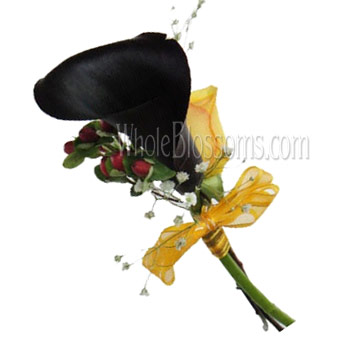 Dark Purple Mini Calla Pin Corsage Flower