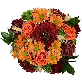 Orange Balance Fall Centerpieces