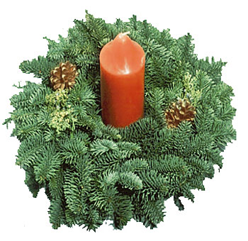 Evergreen Candle Ring