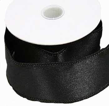 "1/8"" Double Face Satin Ribbon - Black"