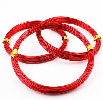 Aluminum Wire 9.5 FT - Red