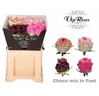 Fragrant Roses Choco Berry Gift
