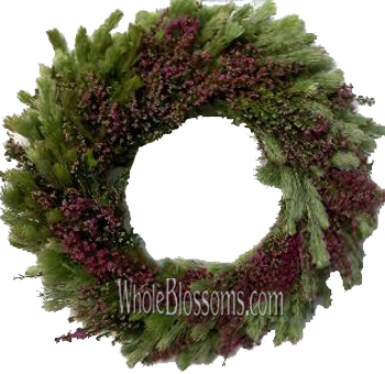 Heather Wooly Bush Wreath