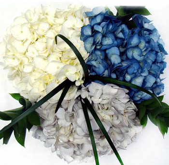 Painted Hydrangea Flower Hanukkah Centerpiece
