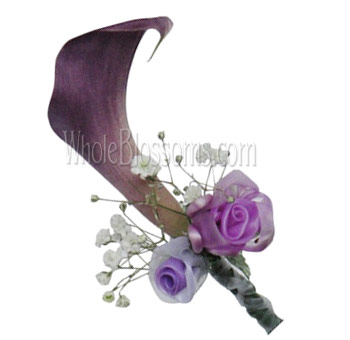 Lavender Mini Calla Pin Corsage Flower