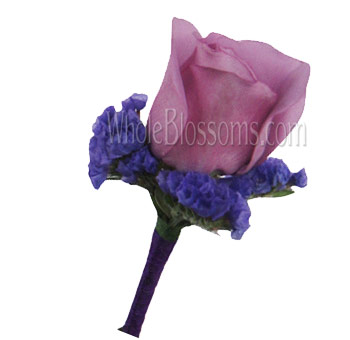Lavender Rose Boutonniere Flower