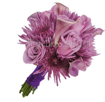 Lavender Nosegay Rose Bridal Bouquet