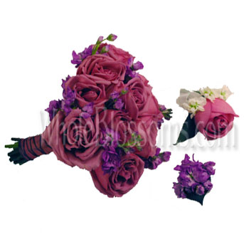 Lavender Rose Fest Wedding Flowers Package