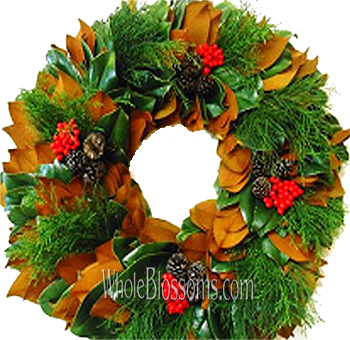 Magnolia Cedar Mix Wreath