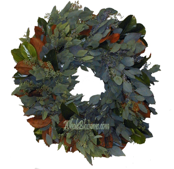 Magnolia Seeded Bay Wreath