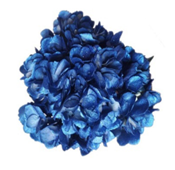 Metallic Glitter Blue Hydrangeas