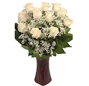 Off White Majestic Rose Valentine's Day Flowers
