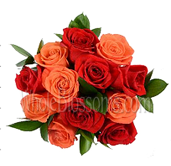 Radiating Orange Rose Centerpieces