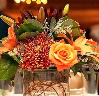 Perfect Fall Colors DIY Wedding Flowers Package