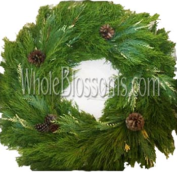 Pine Variegated Leyland Cypress Wreath