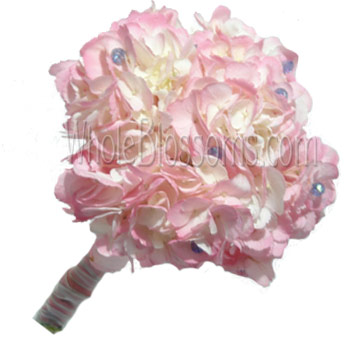 Tinted Pink Nosegay Hydrangea Bridesmaids Bouquets