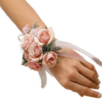 Pink Spray Rose Wrist Corsage Flower