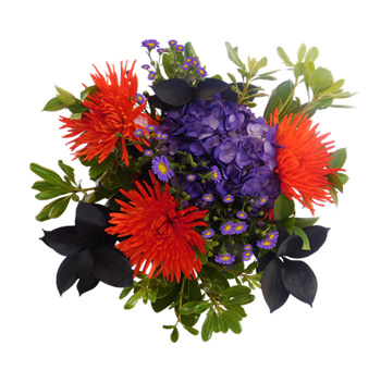 Purple Fall Table Centerpieces