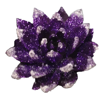 Purple Glitter with Snow Succulent Flower