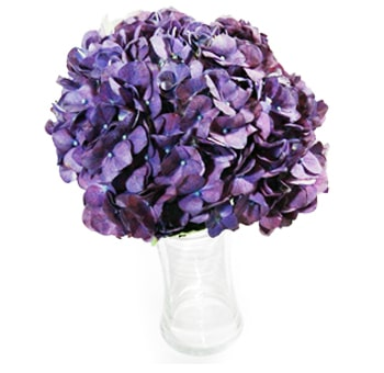 Royal Purple Tinted Hydrangea Bouquets