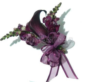 Purple Mini Calla Corsage Flower