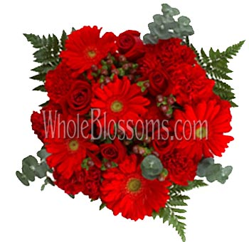 Red Flower Centerpieces