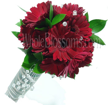Red Posy Gerbera Bridal Bouquet