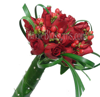 Red Nosegay Rose Bridal Bouquet