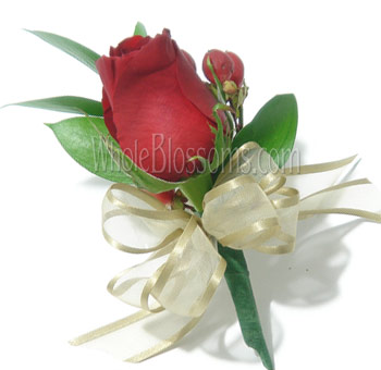 Red Rose Pin Corsage Flower